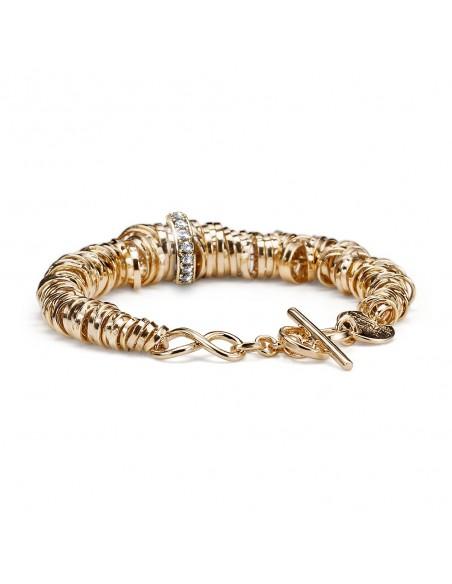 bracciale argento M.C.STERLING infinity bagno oro