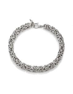 Collana argento maglia Bizantina Giovanni RASPINI
