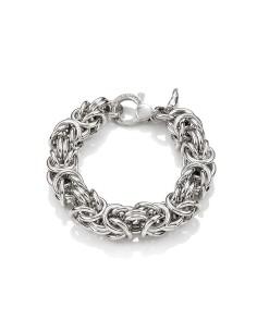 Bracciale argento maglia Bizantina maxi Giovanni RASPINI