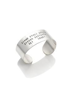 Bracciale argento tattoo bangle maxi 'Siamo fatti della stessa sostanza dei sogni' Giovanni RASPINI