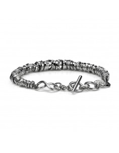 bracciale argento uomo infinity