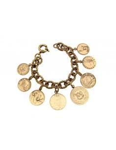 bracciale monete stile antico