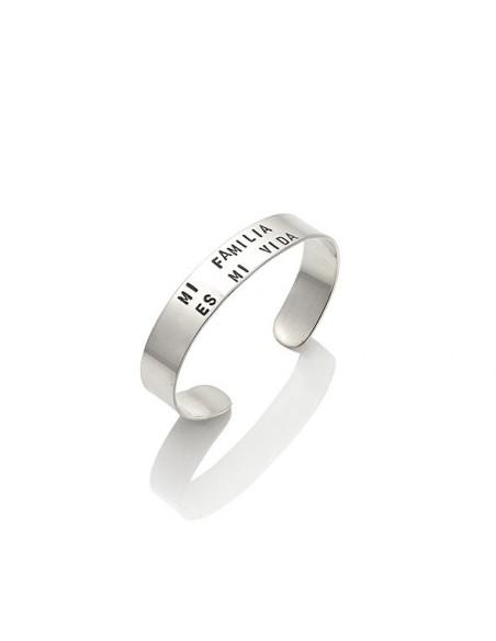 Bracciale argento tattoo bangle 'Mi familia es mi vida' Giovanni RASPINI