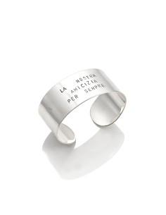 Bracciale argento tattoo bangle maxi 'La nostra amicizia per sempre' Giovanni RASPINI