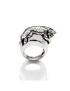 Anello argento Fantastik Leopardo Giovanni RASPINI