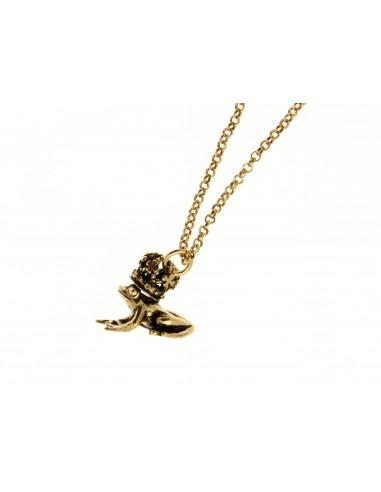 collana stile antico ciondolo rana con corona