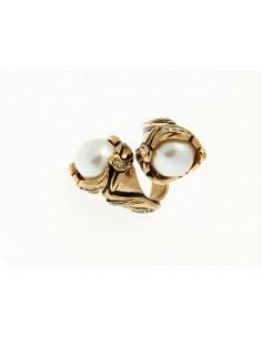 anello stile antico perle contrarier