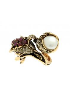 anello stile antico perla rubibi contrarier