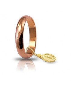 fede matrimoniale classica UNOAERRE oro rosa gr.5 mm.3,6