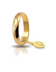 fede matrimoniale classica UNOAERRE oro giallo gr.5 mm.3,6