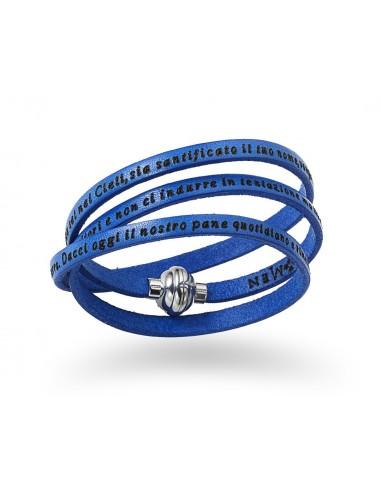 bracciali Amen classic con incisioni blu