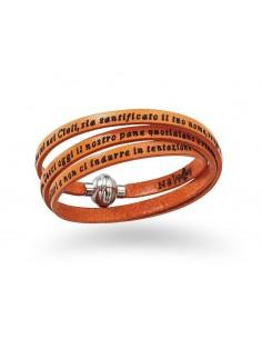 bracciali Amen classic con incisioni arancio