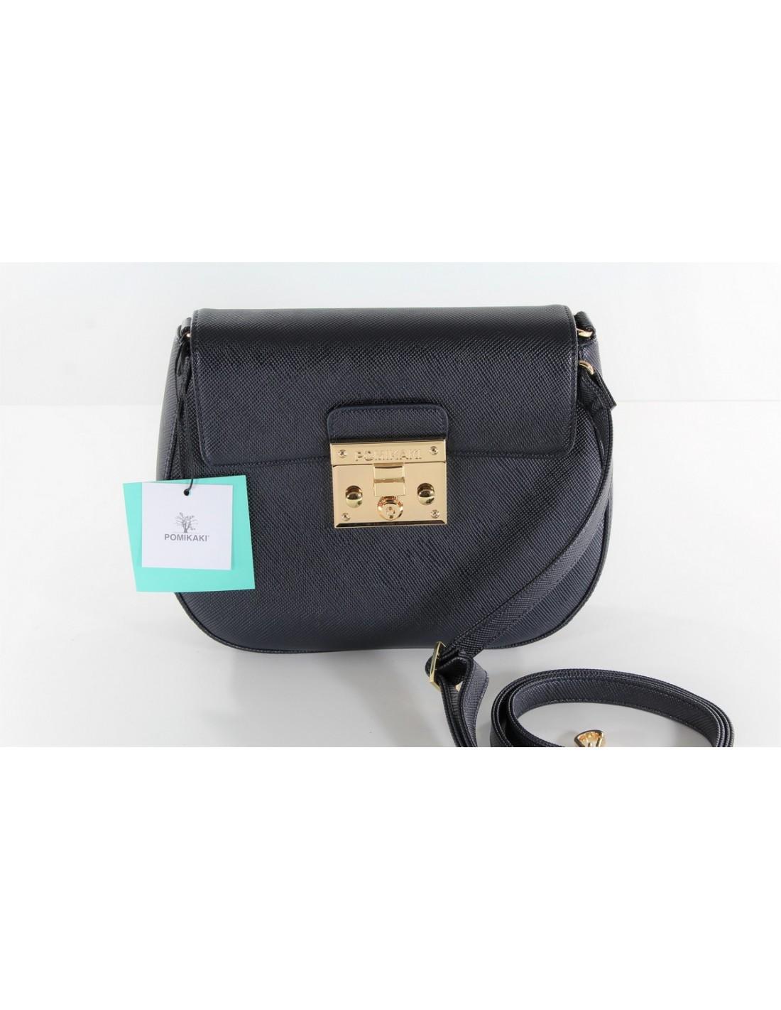 8ef915a37c ... borsa tracolla POMIKAKI modello ELENA colore navy blue ...