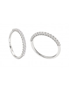 anello fedina mezzogiro ANNIVERSARY RECARLO kt. 0,35 diamanti e oro bianco