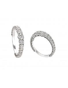anello fedina girodito a scalare ANNIVERSARY RECARLO kt. 1 diamanti e oro bianco