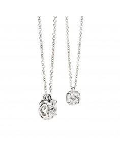 collana ciondolo brillante ANNIVERSARY RECARLO kt. 0,08 diamante e oro bianco