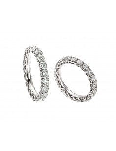 anello fascia girodito ANNIVERSARY RECARLO kt. 0,45 diamanti e oro bianco