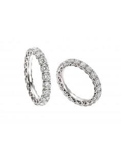 anello fascia girodito ANNIVERSARY RECARLO kt. 1 diamanti e oro bianco
