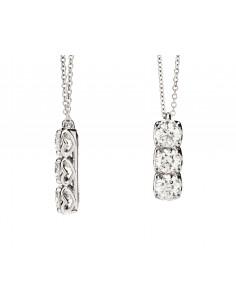 collana ciondolo trilogy ANNIVERSARY RECARLO kt. 0,20 diamanti e oro bianco