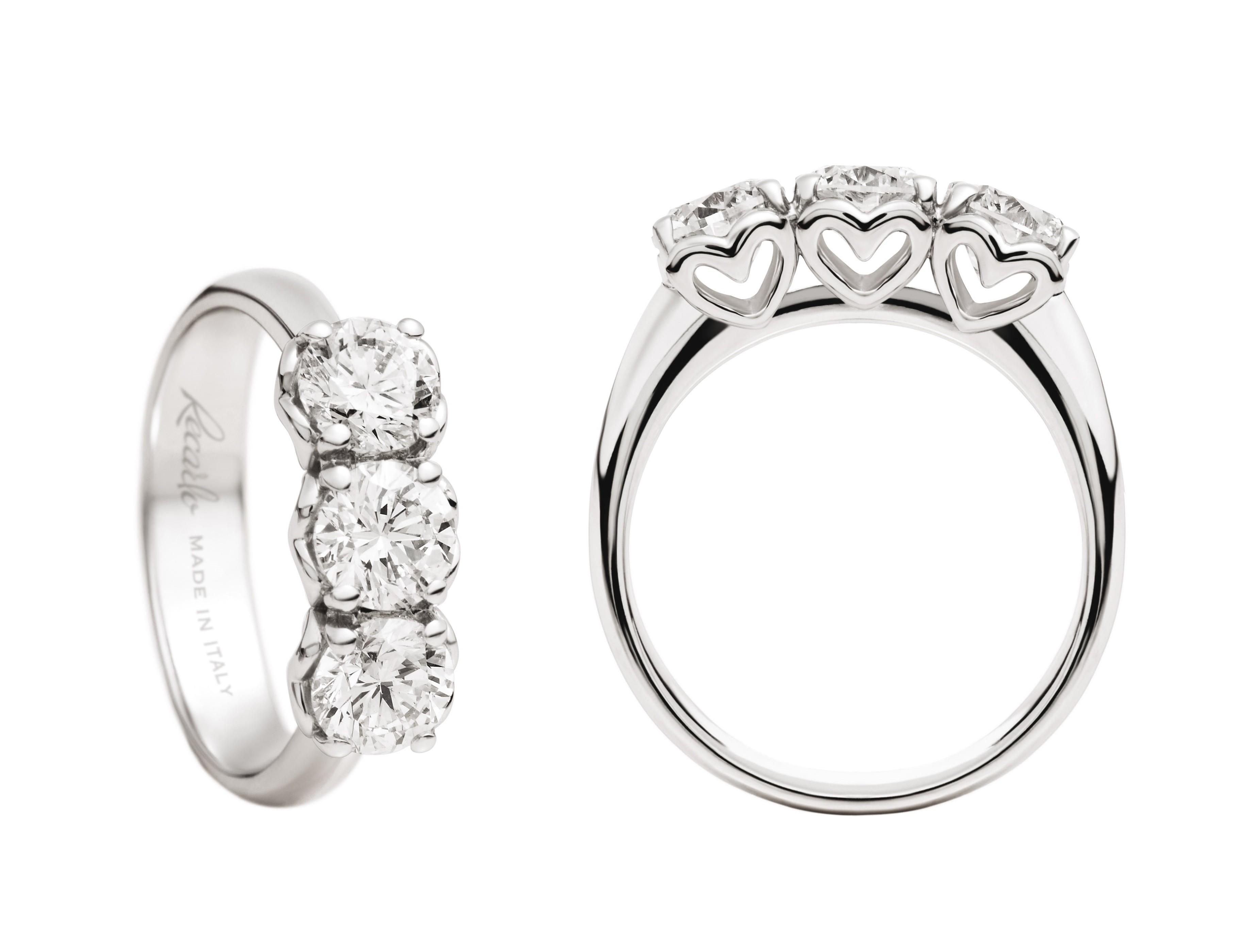 mignonne jolie et colorée regarder anello trilogy ANNIVERSARY RECARLO kt. 0,55 diamanti e oro bianco
