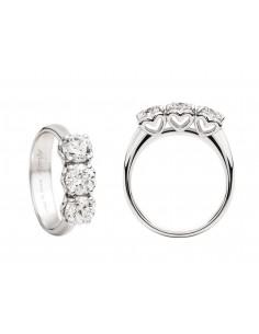 anello trilogy ANNIVERSARY RECARLO kt. 0,45 diamanti e oro bianco