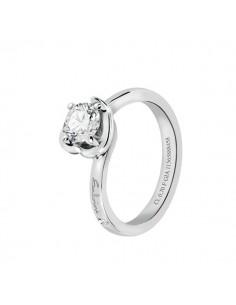 anello solitario diamante SALVINI Abbraccio kt.