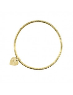 SALVINI Minimal Pop Bracciale Cuore oro giallo 9kt più diamante da kt.0.01