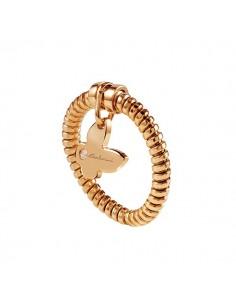 anello oro rosa 9kt SALVINI Minimal Pop cuore e diamante kt.0.01