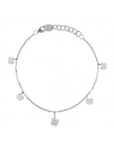 SALVINI Be Happy collier Quadrifoglio diamanti kt.0.13 oro bianco 9kt