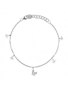 SALVINI Be Happy collier Farfalla diamanti kt.0.07 oro bianco 9kt