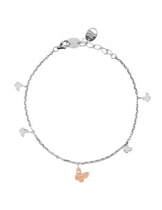 SALVINI Be Happy CHIC collier Farfalla diamanti kt.0.07 oro rosa 9kt