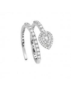 anello fantasia SALVINI Precious Loop diamanti kt.0.52 e oro bianco