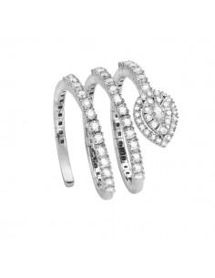 anello fantasia SALVINI Precious Loop diamanti kt.0.72 e oro bianco