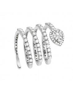 anello fantasia SALVINI Precious Loop diamanti kt.1.02 e oro bianco