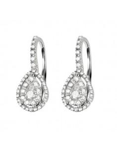 orecchini fantasia diamanti SALVINI Precious Loop kt.0.54 e oro bianco