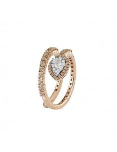 anello fantasia SALVINI Precious Loop diamanti brown kt.0.58 e oro rosa