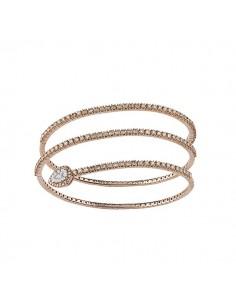 bracciale diamanti SALVINI Precious Loop diamanti brown kt.2.08 oro rosa