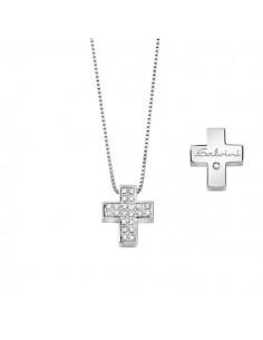 SALVINI collezione I SEGNI Croce pavè diamanti kt.0.13 oro bianco