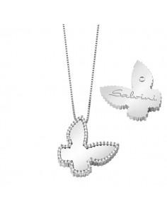 SALVINI collezione I SEGNI Farfalla contorno diamanti kt.0.25 oro bianco