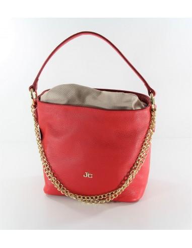 borsa secchiello J&C JACKYCELINE Slide Bag vitello rosso