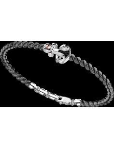 bracciale in argento 925, ATOMOSPHERE ZANCAN, Rodio Nero e spinelli