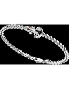 bracciale in argento 925, ATOMOSPHERE ZANCAN, Rodio bianco e spinelli