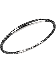 bracciale in acciaio HITECH ZANCAN PVD NERO‐ SPINELLI NERI