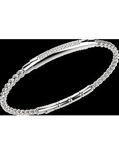 bracciale in acciaio HITECH ZANCAN PVD BIANCO‐ ZAFFIRI BIANCHI