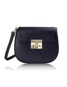 borsa tracolla POMIKAKI modello ELENA colore navy blue