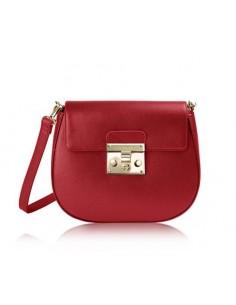 borsa tracolla POMIKAKI modello ELENA colore red