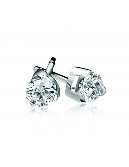 orecchini solitario LOUVRE kt.0.34 diamanti e oro bianco