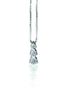 Collana trilogy LOUVRE BIBIGI' kt. 0.26 diamanti e oro bianco