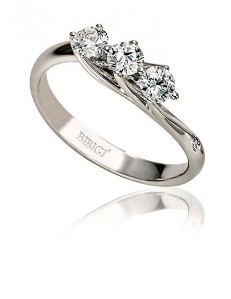 anello trilogy VALENTINE kt.0.22 diamanti e oro bianco