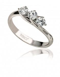 Anello trilogy VALENTINE BIBIGI' kt. 0.34 diamanti e oro bianco